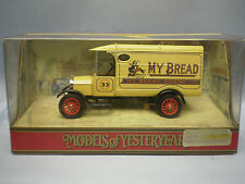 MATCHBOX MODELS OF YESTERYEAR Y-21 1926 FORD MODEL TT - MY BREAD BAKING Co.