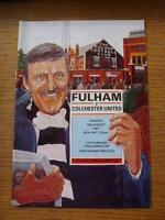 18/08/1987 Fulham v Colchester United [Football League Cup] (No Apparent Faults)