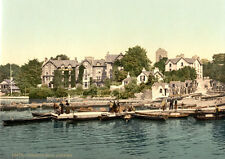 "P5 Vintage 1890's Photochrom Photo Windermere Bowness Lake District Print 17""x12"