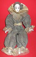 Bambola da collezione - Clown in fine porcellana bianca anni 30/40 - a mano