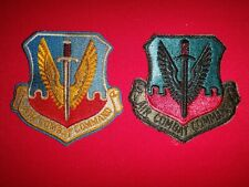 2 US Air Force AIR COMBAT COMMAND Color And Semi-Subdued Patches