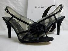 Nine West Size 10 M Jasmina Black Open Toe Heels New Womens Shoes