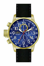 Invicta Men's I-Force Chrono Lefty Gold Tone S.Steel Black Leather Watch 24737