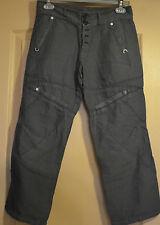 bonito pantalones cortos de lino mujer gris foncel HIGH USE talla 34 TODO NUEVO