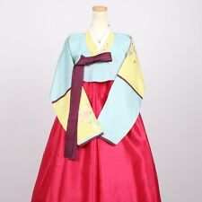 "Hanbok Korean Traditional Dress Set Costume Women 한복 M-size 5' 4"" (163 cm) A343"