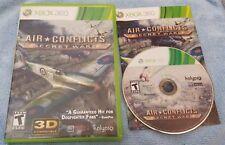 Air Conflicts: Secret Wars (Microsoft Xbox 360, 2011)  Complete  CIB