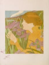BOTTINI GEORGES  WOMEN, THE IRIS AND DRAGONFLYS PROOF ARTIST OF 50 EX