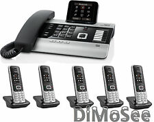 "►► Gigaset DX800A VoIP - ISDN - Analog ""All in one"" + 5 Mobilteile S850HX ◄◄"