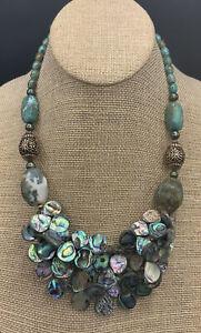 Barse Lush Necklace- Mixed Stones- Bronze - NWT