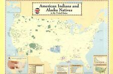 American Indians and Alaska Natives Census Map, US Native, Navajo etc - Postcard