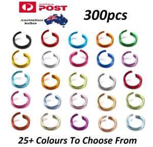 300pcs Aluminium Anodized Metallic Coloured Open Jump Rings