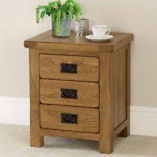 Rustic Oak 3 Drawer Bedside - Nightstand Bedroom Table - RS01