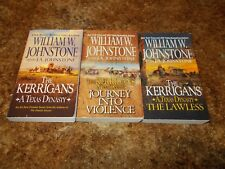WILLIAM JOHNSTONE~KERRIGANS, A TEXAS DYNASTY~WESTERN SERIES~3 BOOK COLLECTION