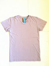 Men's Light Purple Casual Plain Top Short Sleeve V-Neck Sport Gym T-shirt