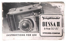 Voigtlander Instruction Book for Bessa II  #3