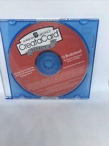 American Greetings CreataCard Select 6 PC CD-Rom Windows Broderbund