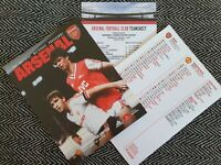 Arsenal v Manchester United Programme with Teamsheet 1/1/20!! FREE UK DELIVERY!!