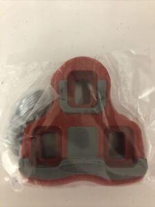 Wellgo RC-7B Road Bike Pedal Cleats 6 Deg Float Look Keo Compatible Red