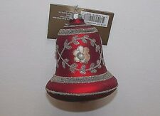 NEW NWT Christmas Ornament Glass Bell Glitter