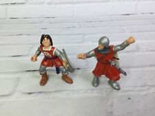 "Vintage Bullyland Made in Germany 3"" Medieval Knights Toys Figures Lot of 2"