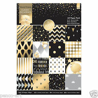 Papermania A5 paper 32pk Forever Friends Classic Decadence papers part gold foil