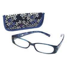 New! Foster Grant Viana Blue 1.50 Reading Glasses W/Soft Case. FREE Ship!