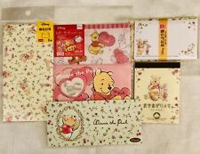 CUTE KAWAII DISNEY WINNIE THE POOH LETTER NOTE ENVELOPE LOT DAISO MADE IN JAPAN