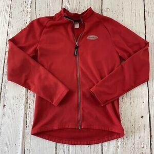 Giordana Men's Full Zip Light Cycling Jacket Red Size M/L