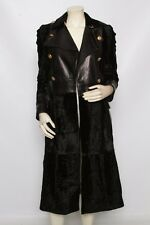 SALVATORE FERRAGAMO Leather Astrakhan Lamb FUR Jacket Coat
