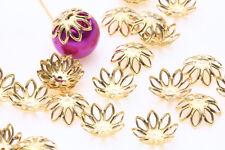 Wholesale Filigree Flower Cone End  Metal Flower Bead Caps 12Style Jewelry DIY