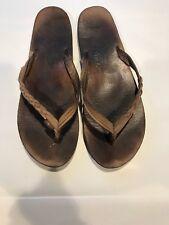 "Womens ""Flirty Braidy"" Rainbow Flip Flop Sandal Leather 8-9.5 Used"