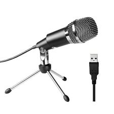 PC microphone,Fifine Plug &Play Home Studio Cardioid USB Condenser Microphone