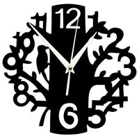 Wall Clock Silent Non-Ticking Quartz Movement 3D Tree-Shaped Clock Indoor  B8K7
