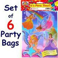6 Princess Fairy Girls Kids Birthday Party Loot Bags
