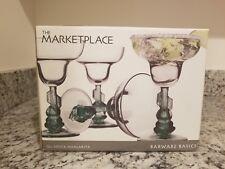 SET FOUR 4 GREEN CACTUS SIESTA SOMBRERO MARGARITA GLASSES BARWARE ORIGINAL BOX!