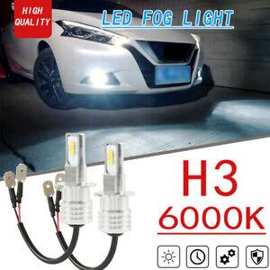 2x 70W High Power H3 Car LED Fog Lights Conversion Kit  DRL 6000K Bright White