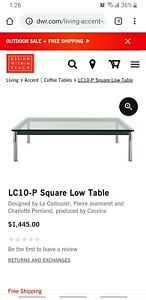 DWR Cassina LC10 Square Table Design Within Reach - NO GLASS TOP