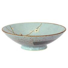 "Japanese Dinnerware 9.75""D Rice Soup Bowl Ume Plum Cherry Blossom Made in Japan"