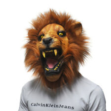 Lion Masks Costume Latex Animal Head Mask Party Cosplay Masquerade Photo Props