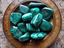 MALACHITE 1/4 Lb Gemstone Specimens Tumbled Wiccan Pagan Metaphysical