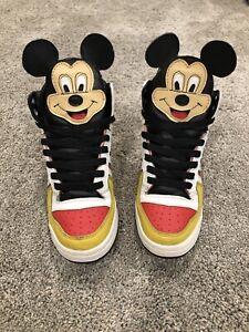 Adidas Originals, Jeremy Scott Mickey Mouse, Talla 5 , Extremadamente Raro