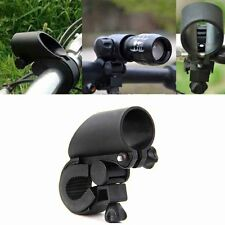 Bicycle Universal Flashlight Torch Front Light Mount Clip Stand Bracket Holder