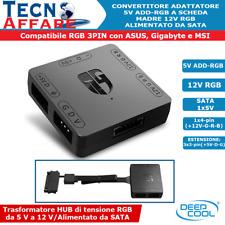 Convertitore RGB Adattatore 5V ADD-RGB to 12V RGB Asus Gigabyte MSI Deepcool