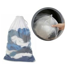 Mesh Laundry Bag Drawstring Mesh Stuff Bag Net For College Or Laundromat 1PC