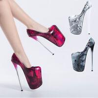 Ultra High Drag Queen Pumps 22cm Vintage Heels Men's Platform Stiletto Big Shoes