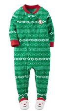 Carter's Toddler Boy  Fleece Sleep & Play Footed Christmas Pajamas, Size 24M