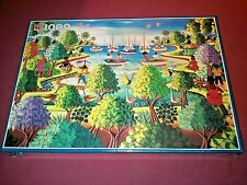 Jumbo Jigsaw Puzzle - Tree Landscape With Sailing Boats - 1000 Pieces 1686 New