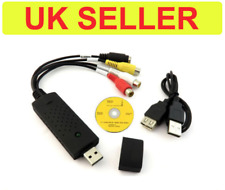 USB 2.0 Video Capture Edit S-VHS & RCA Video DVD to PC Composite VCR Windows 10