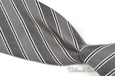 "YVES SAINT LAURENT YSL Gray Multi Striped 100% Silk Mens Luxury Tie - 3.75"""