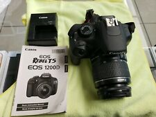 Canon EOS Rebel T5 / EOS  18.0MP Digital SLR Camera - Black-used.